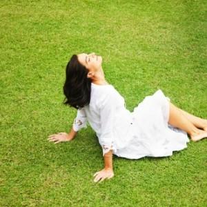 sunbathing woman m